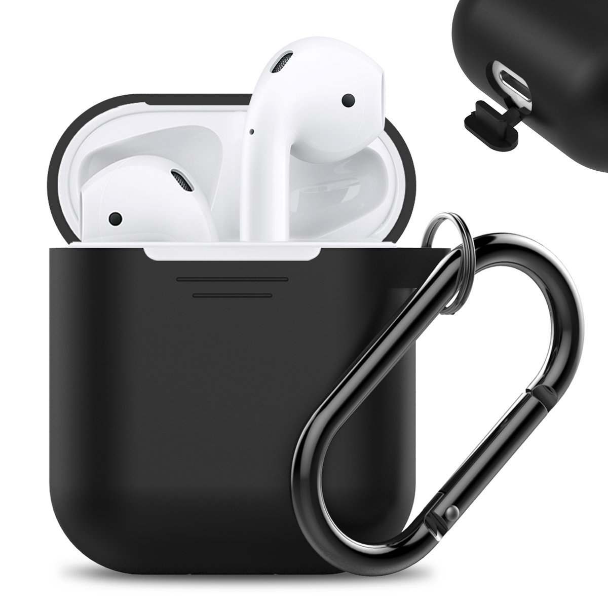 AhaStyle-PT06 PODFIT 2.0 - AIRPODS 專用全包覆掛勾保護套(黑色)