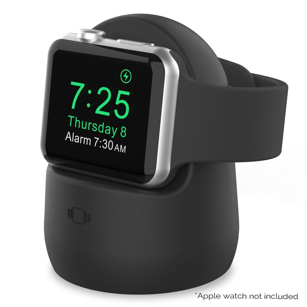 AhaStyle PT63 - Apple Watch Silicone Charge Stand (Black)