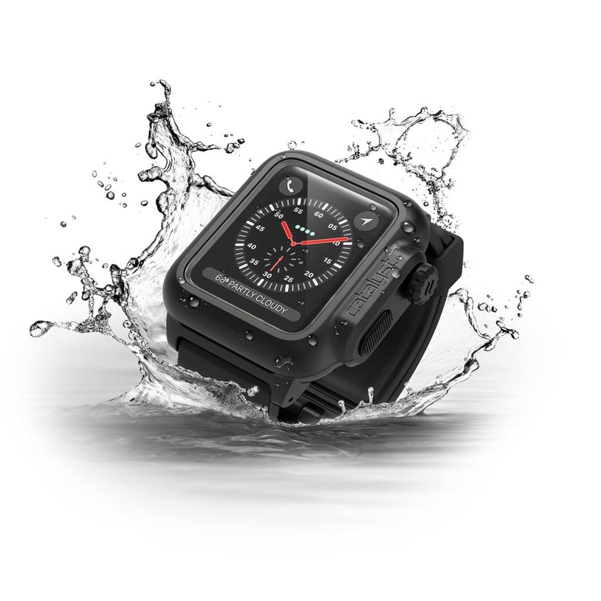 Catalyst® Waterproof Case for 42mm Apple Watch Series 2/ 3 - Stealth Black