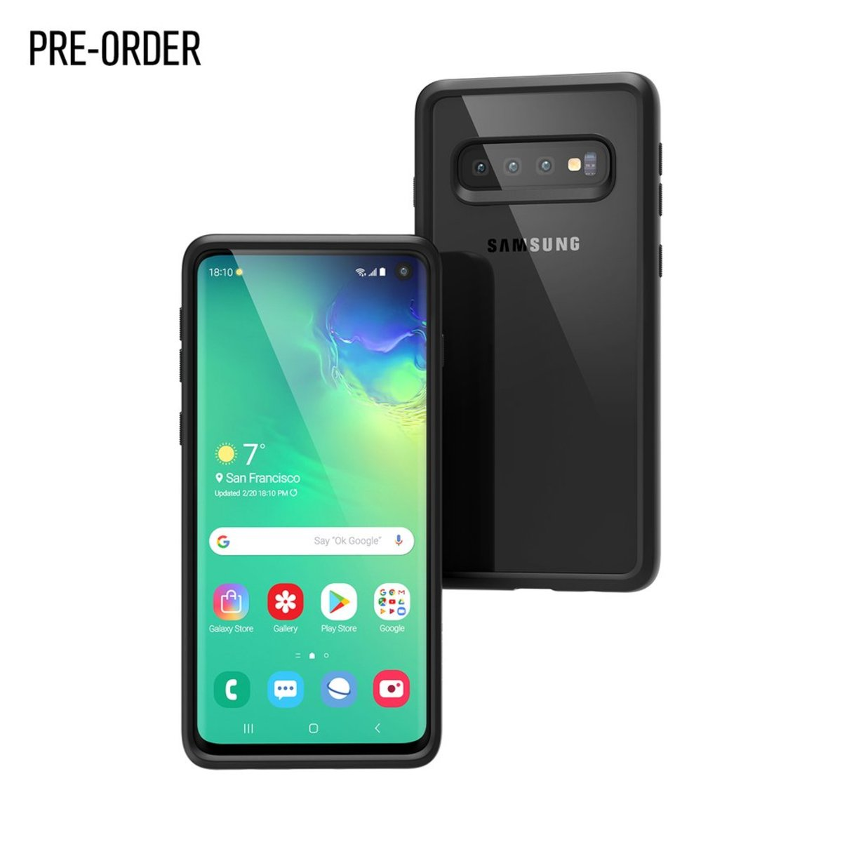 Catalyst® IMPACT PROTECTION CASE FOR SAMSUNG GALAXY S10 (Stealth Black)