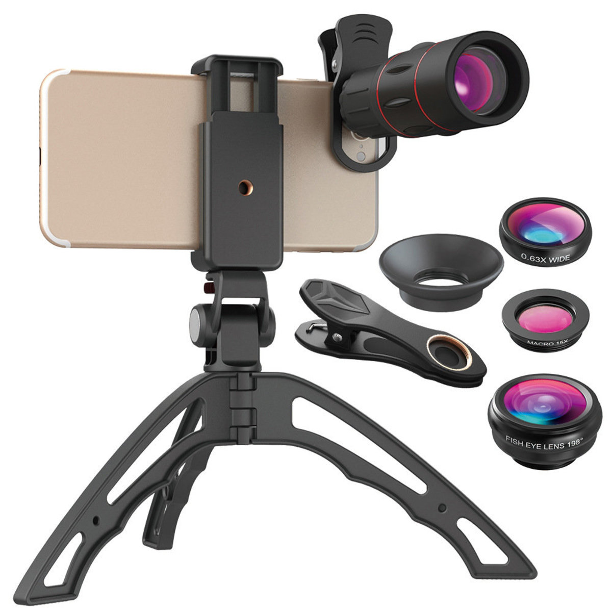 Hotbuy 4 IN 1 Phone Camera Lens kit