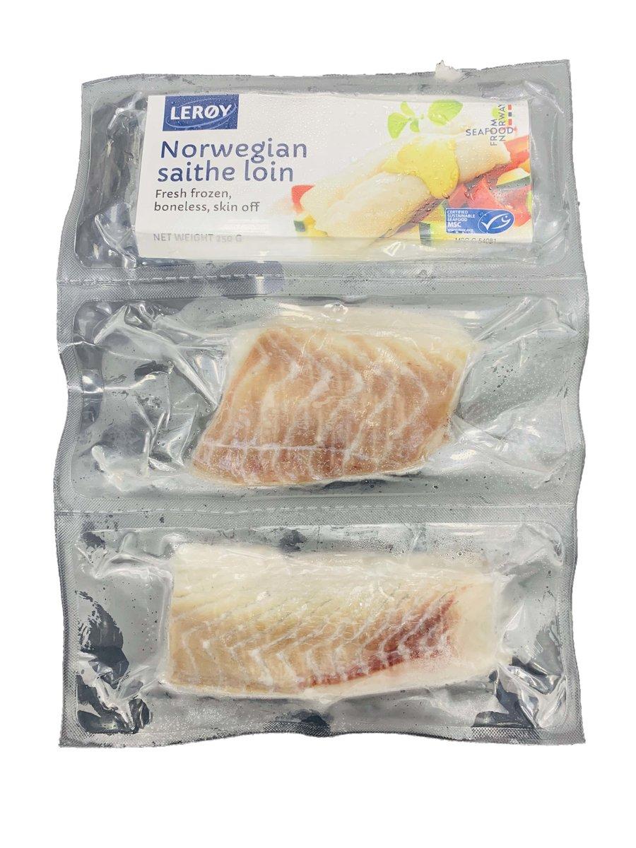 Norwegian Wild Caught Atlantic Saithe Block Portions 250g (2x125g)
