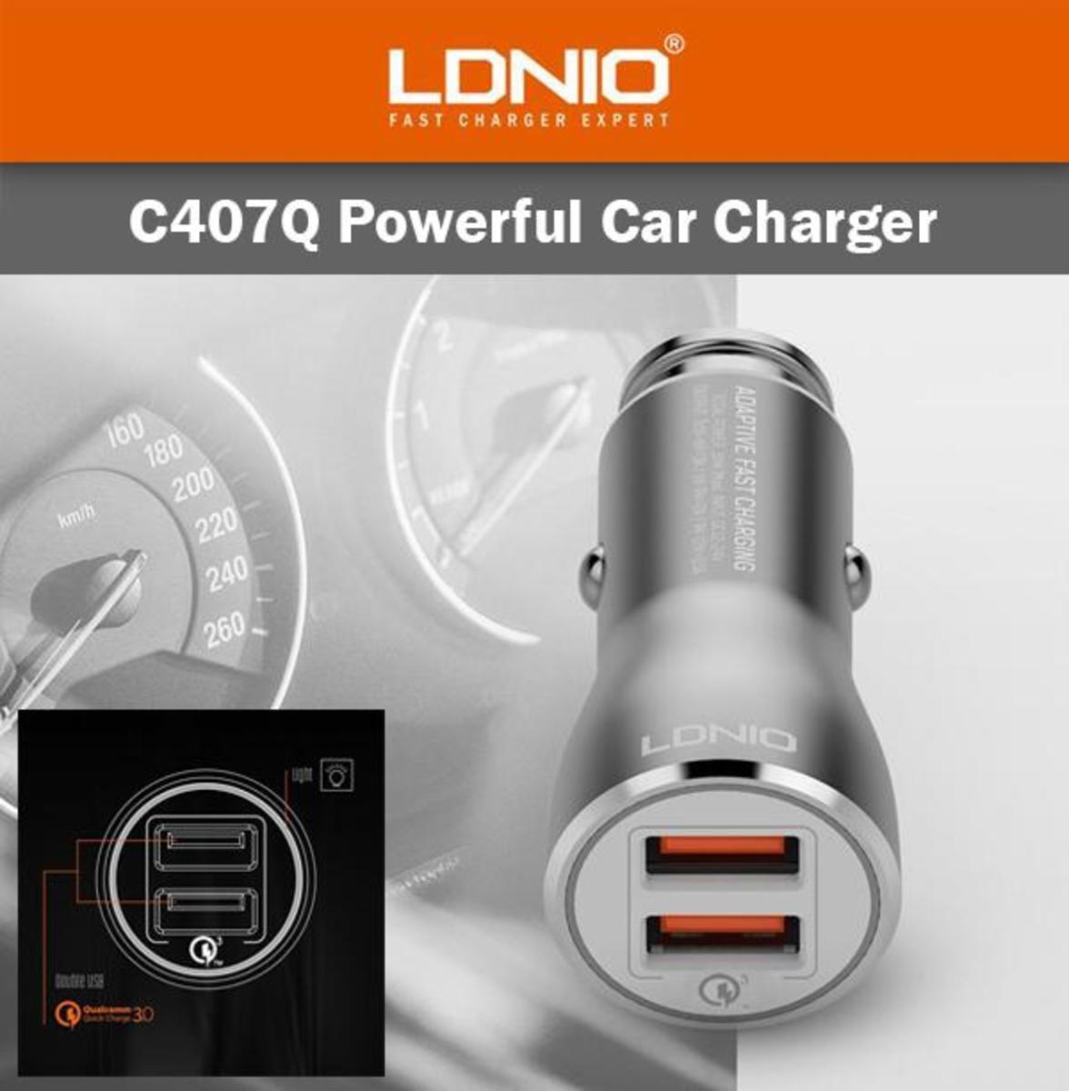 (C407Q) Car Charger QC3.0 - 2 Ports
