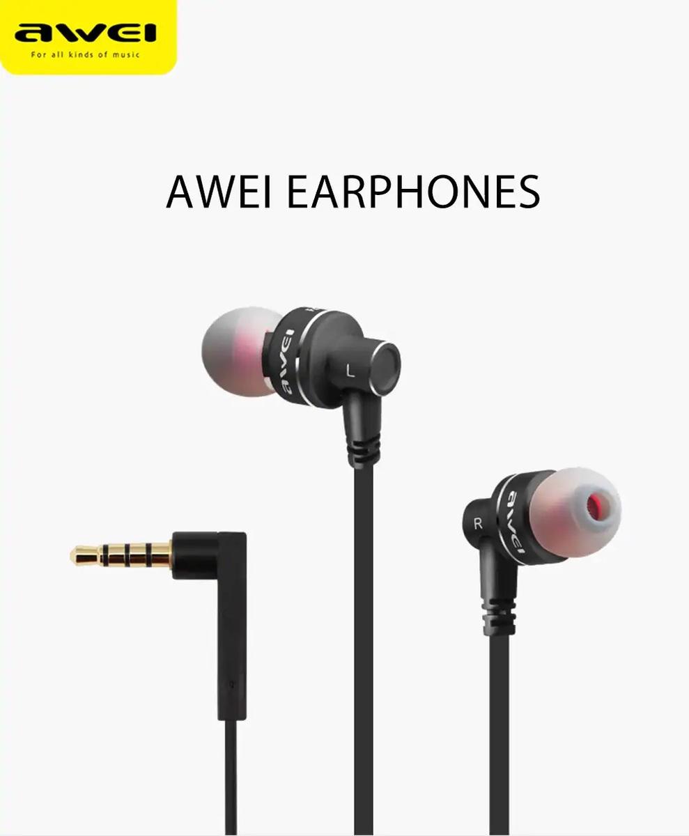 (ES-10TY) In-ear Wire Control Earphone Dual Dynamic Units Earbuds -Black