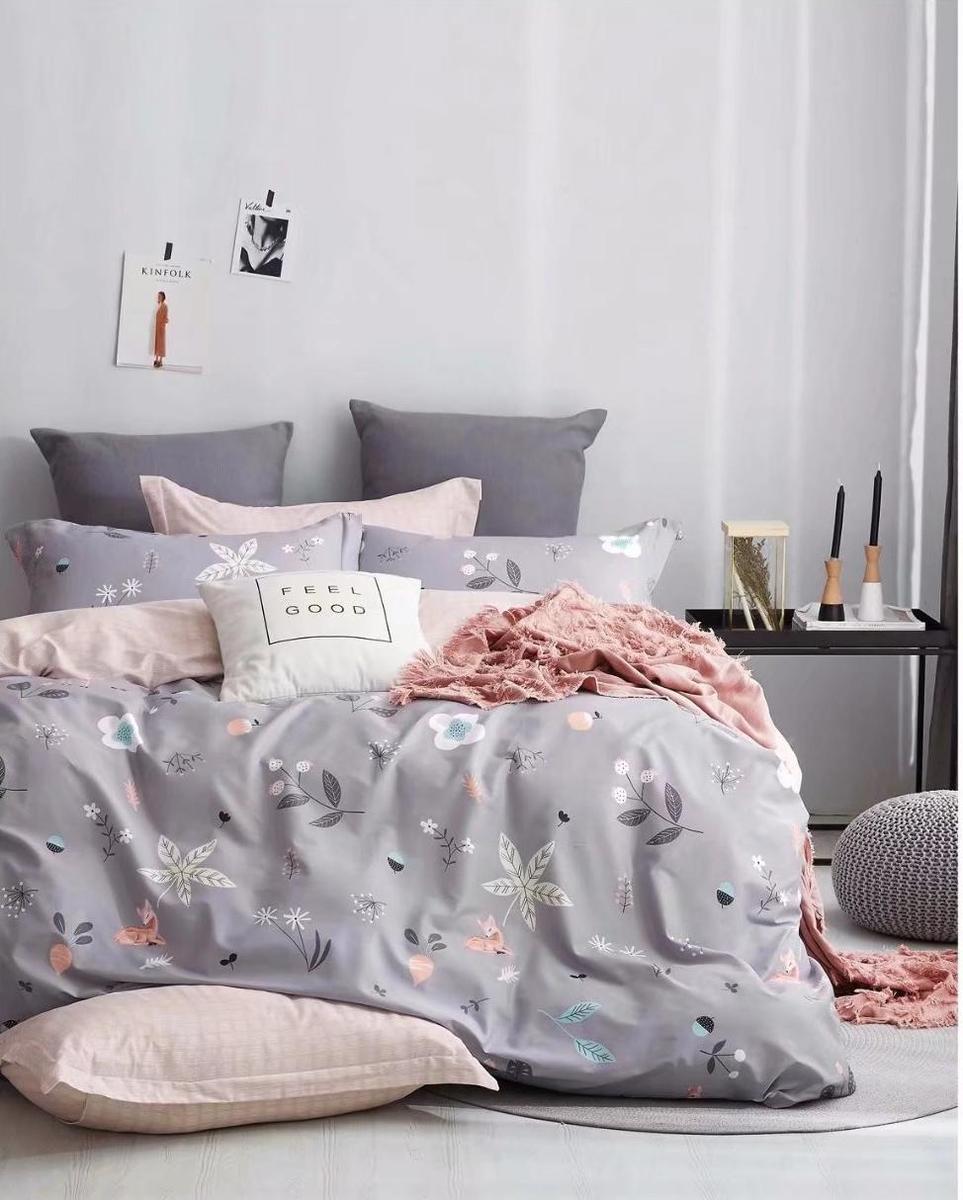 Cotton 780 threads bedding set (Co37) Double