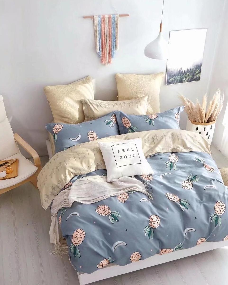 Cotton 780 threads bedding set (Co41) Double