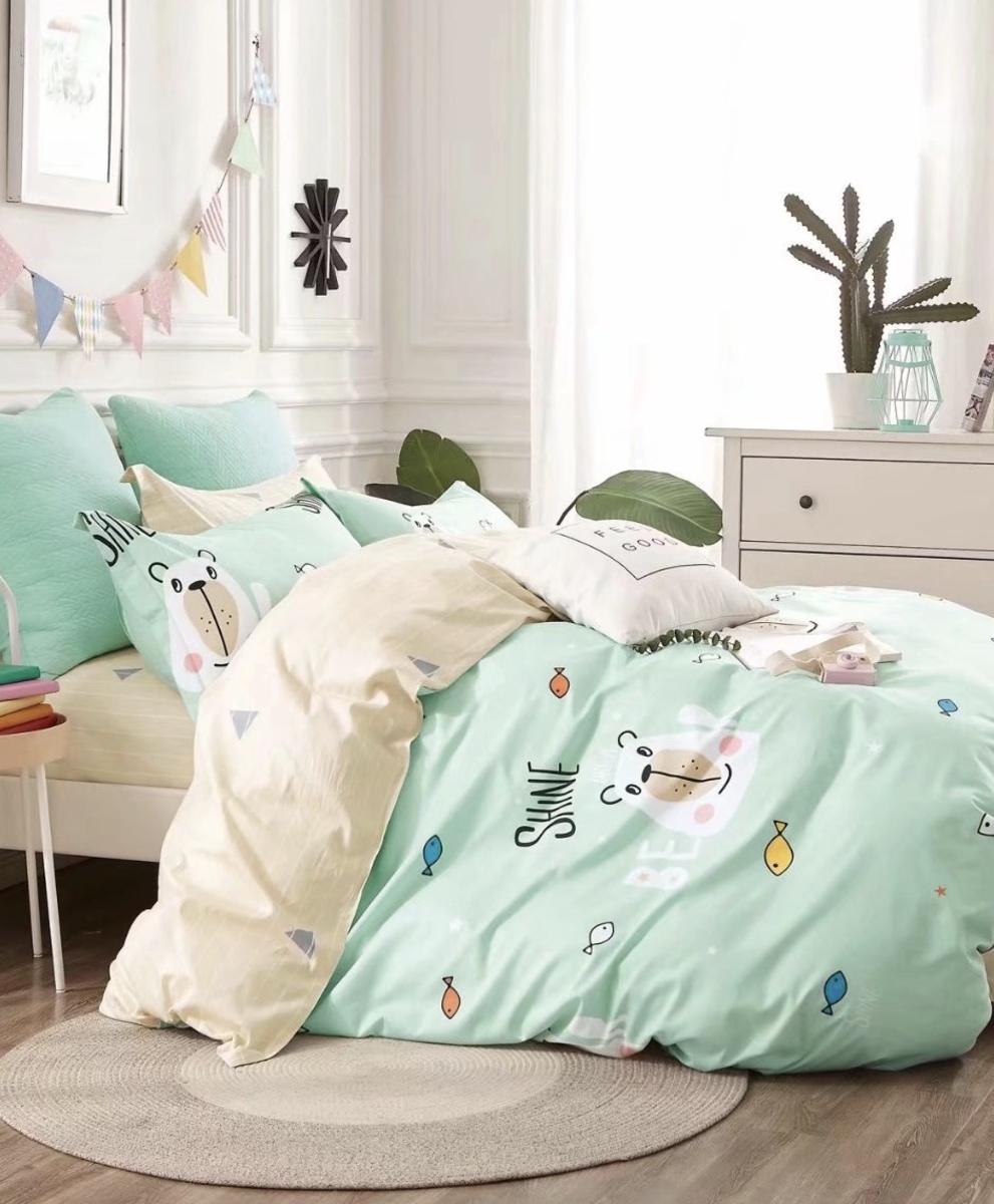Cotton 780 threads bedding set (Co42) Double