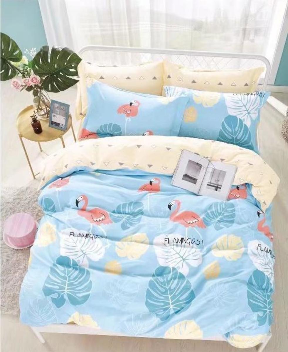 Cotton 780 threads bedding set (Co44) Double