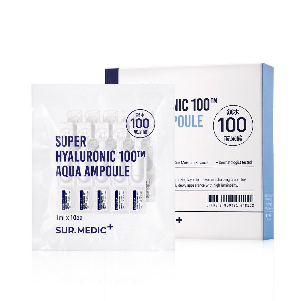 SUR.MEDIC+ Super Hyaluronic 100™ Aqua Ampoule 1ml*10ea