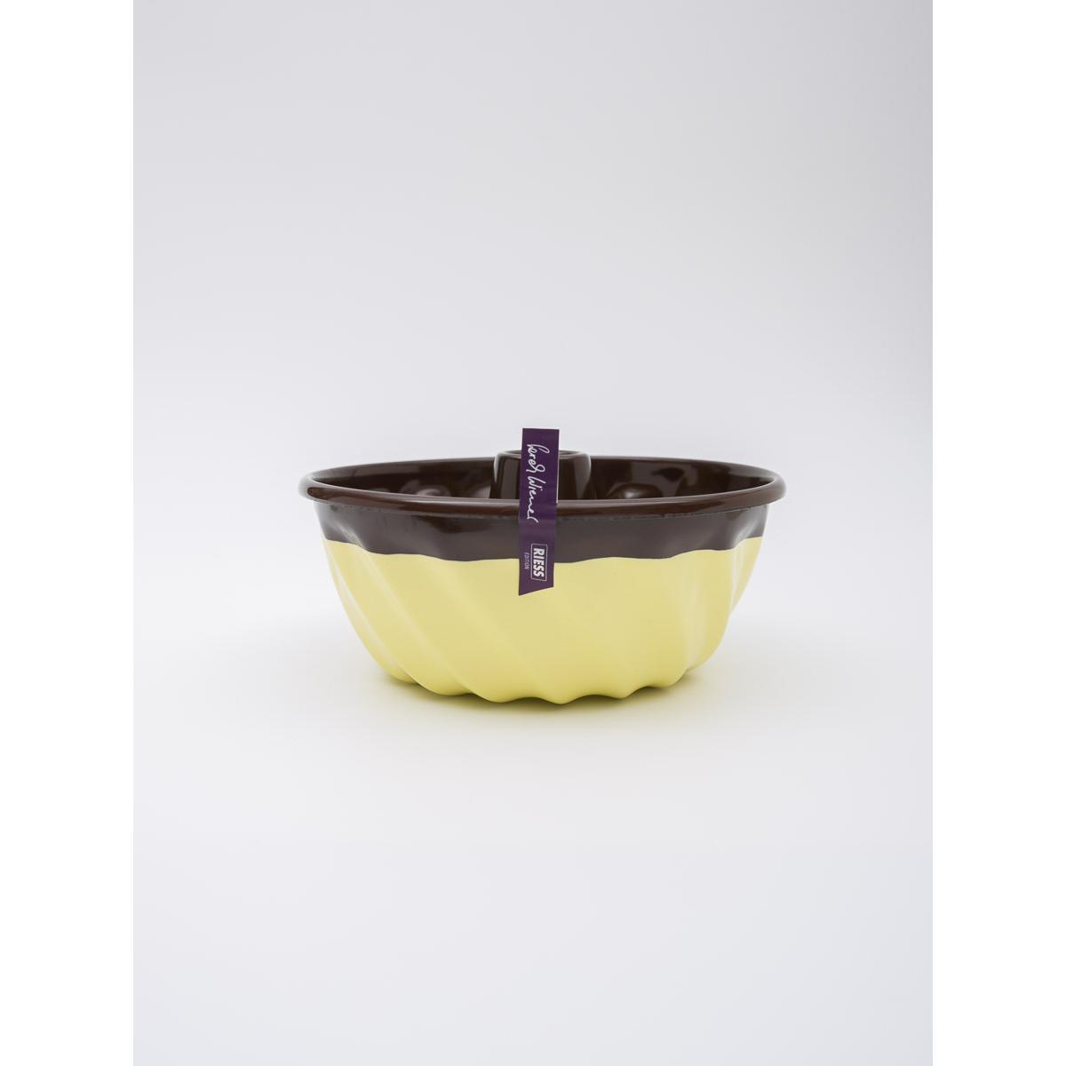 22cm enamel ring cake form - Chocolate with cream
