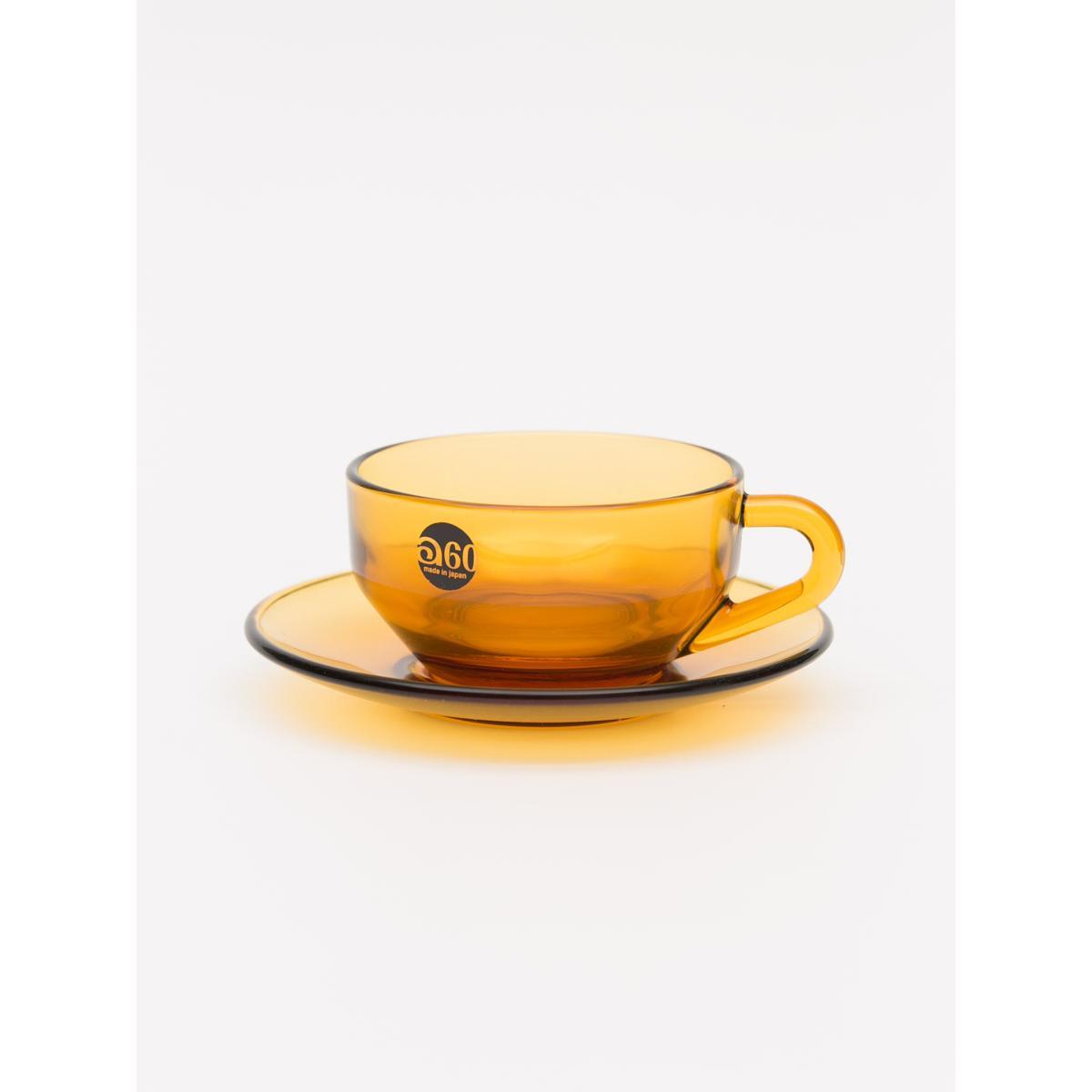 180ml Glass coffee set - Amber