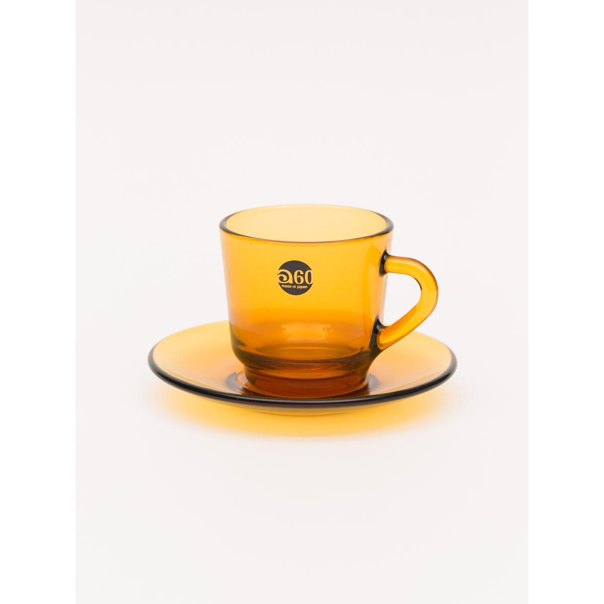 180ml Glass tea set - Amber