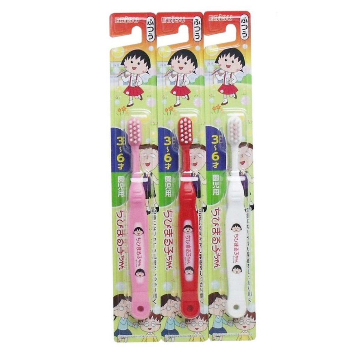 日本製 櫻桃小丸子兒童牙刷 3-6歲適用 x3  (隨機)