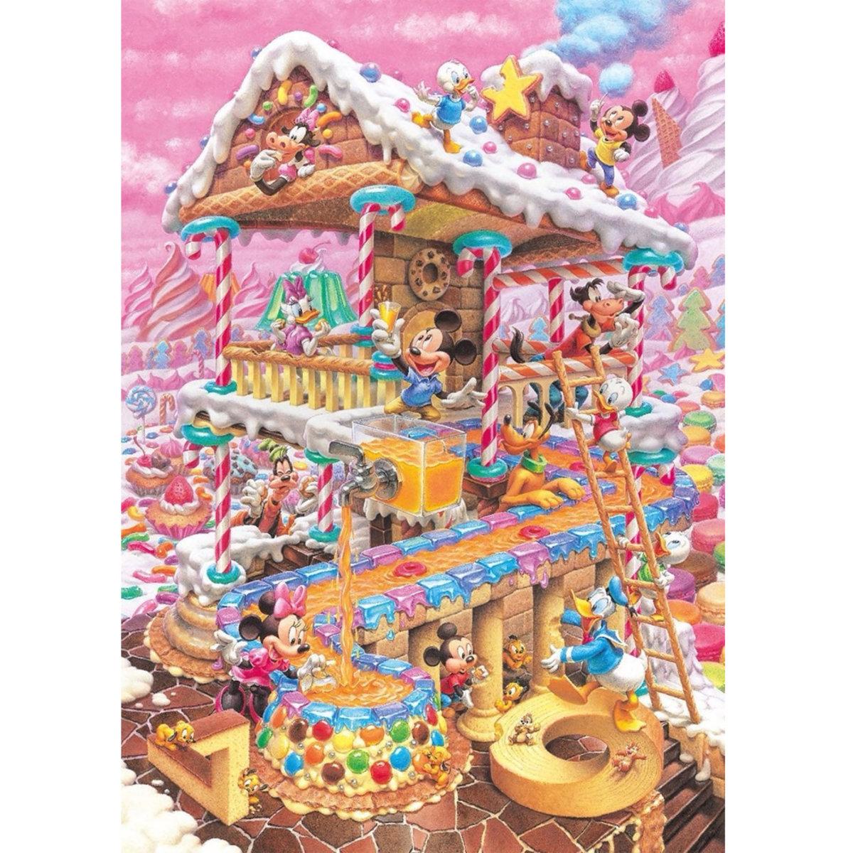 DPG-266-574 266 pieces puzzle Mickey and Minnie Mouse Funny Home (4905823855744) [Licensed by Disney]