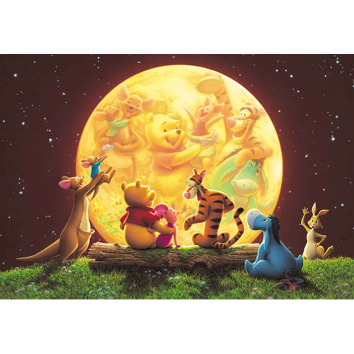 DSG-266-733 266 pieces puzzle Winne the Pooh Moon Light (4905823857335) [Licensed by Disney]