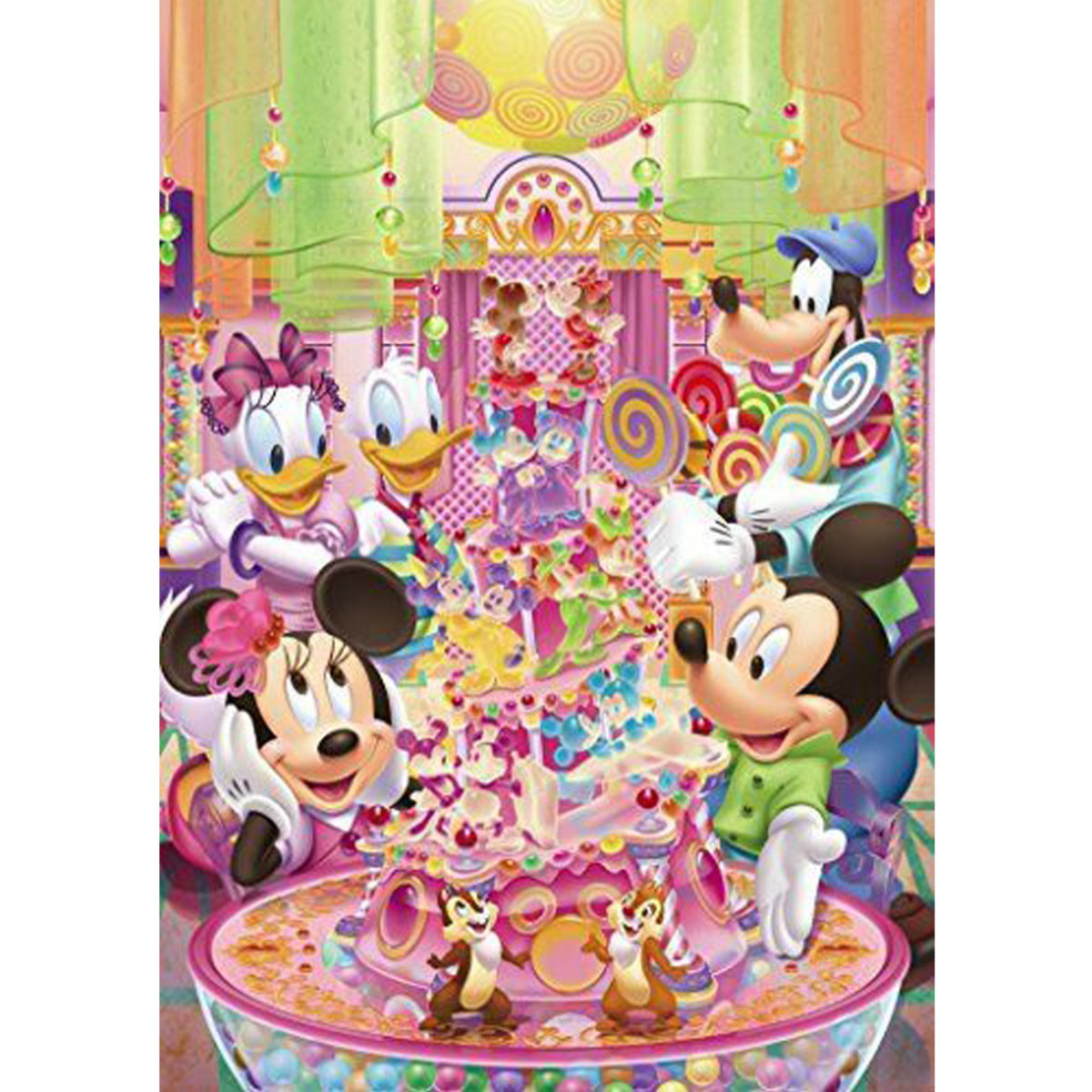 266 pieces puzzle Mickey Mouse Minnie Mouse Candy Party (4905823857465)