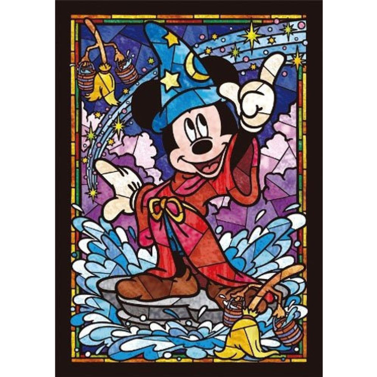 DSG-266-747 266 pieces puzzle Mickey Mouse Stained Glass (4905823857472) [Licensed by Disney]
