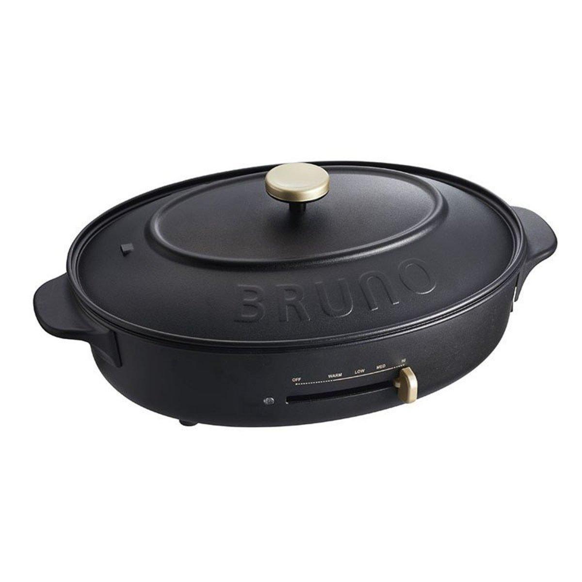 BOE053-BK Oval Hot Plate Black