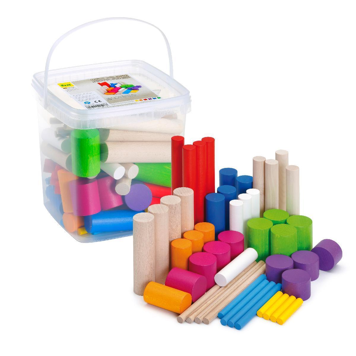 Learning game Stacking blocks