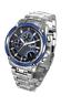 精鋼行針石英男士腕錶電子錶(黑藍色)LS114000S