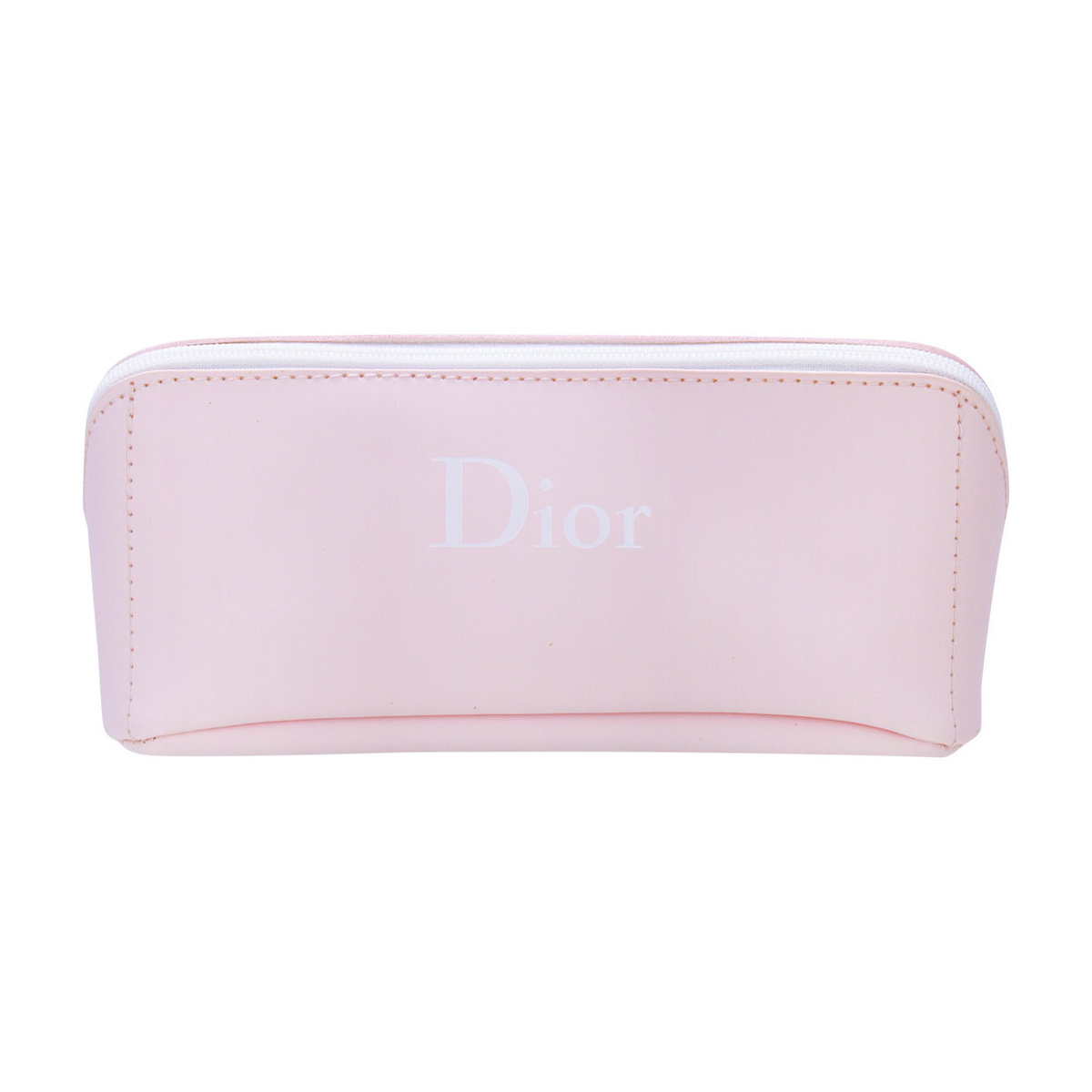 Beauty Box soft leather pink zipper bag - [Original licensed Product]