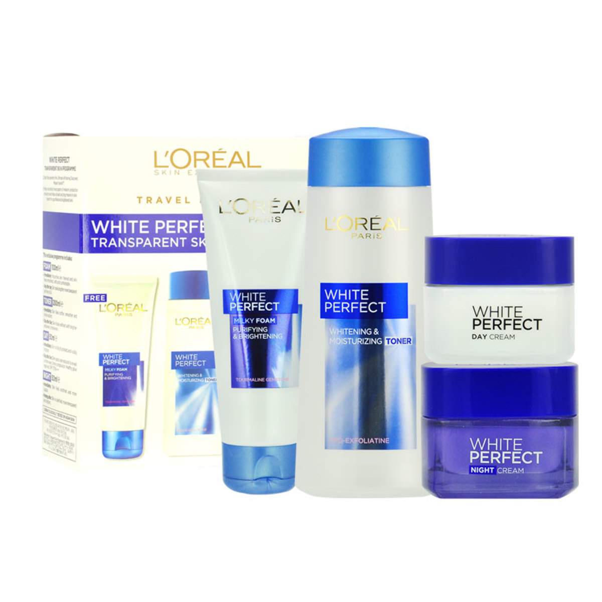 White Perfect Transparent Skin Programme Travel Exclusive - [Parallel Import Product]