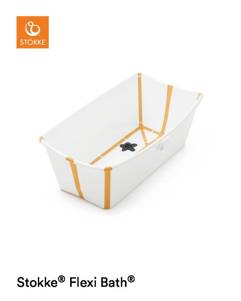 Stokke® Flexi Bath®摺疊式浴盆 - 黃白色