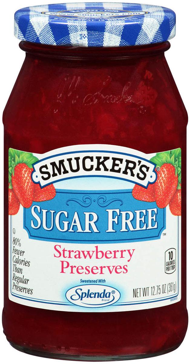 SMUCKER'S Starwberry Sugar Free Preserves  12.75 OZ (361g)