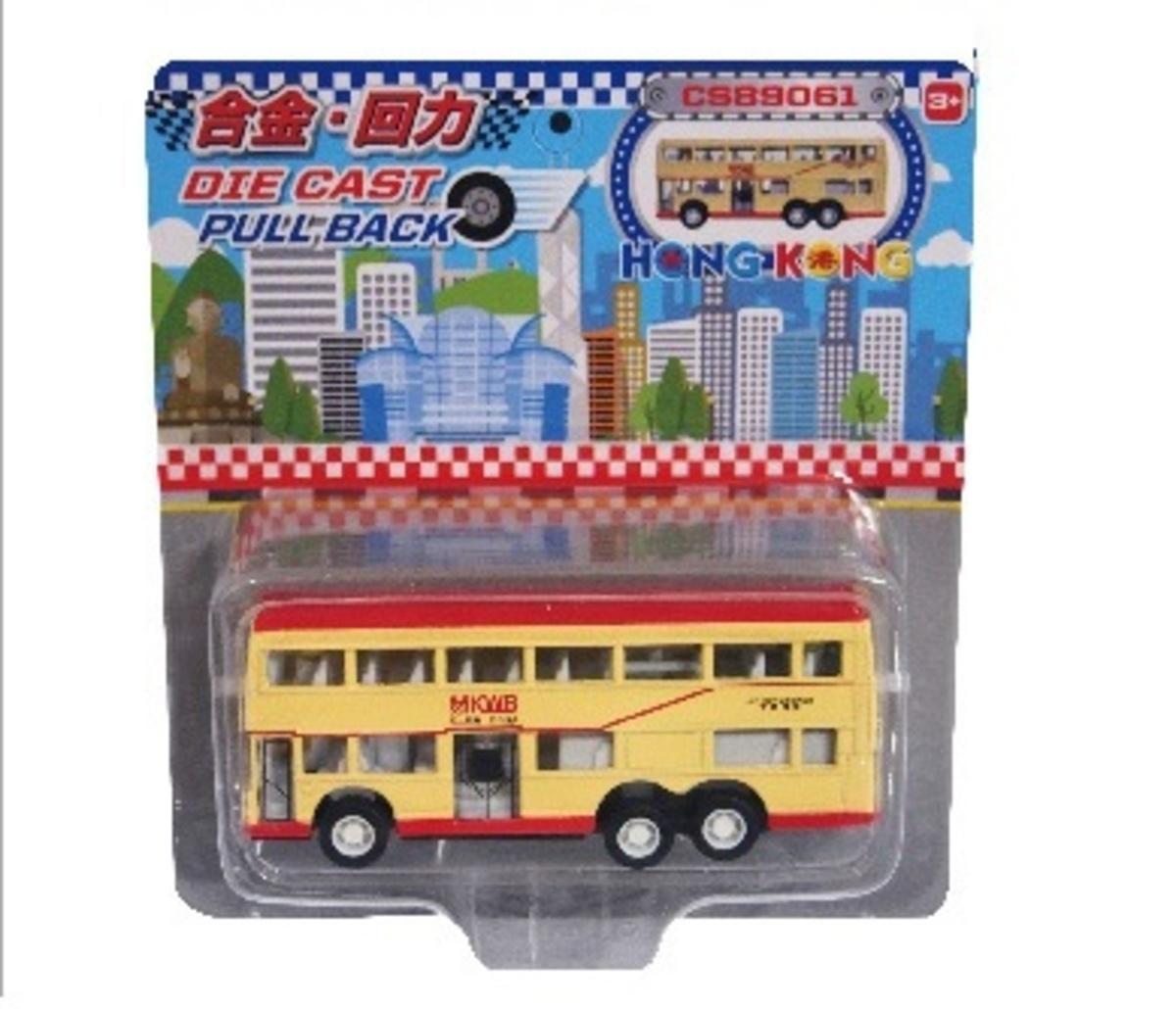 """咭裝迷你 """"雙層 黃色巴士"""""""