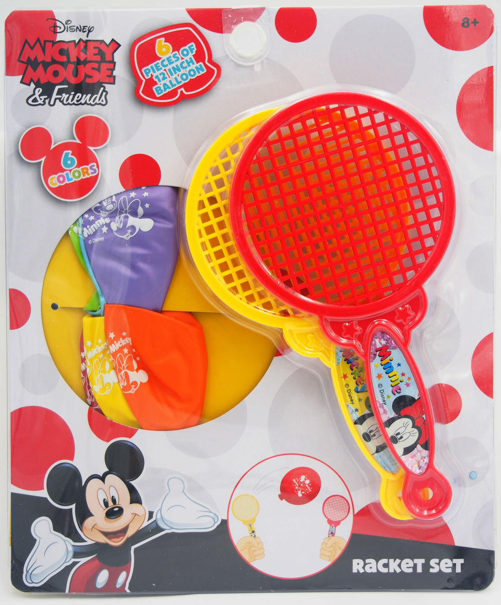 MICKEY Racket with balloons game