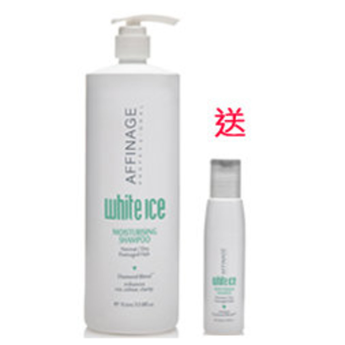 White Ice Moist Shampoo 1000ml Free 100ml Trial Size
