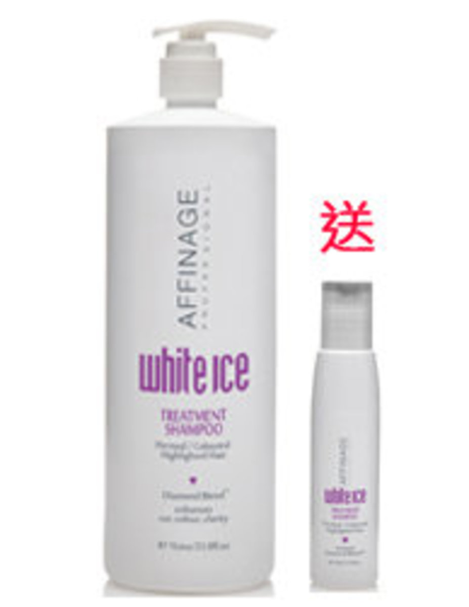White Ice Treatment Shampoo 1000ml Free 100ml Trial Size