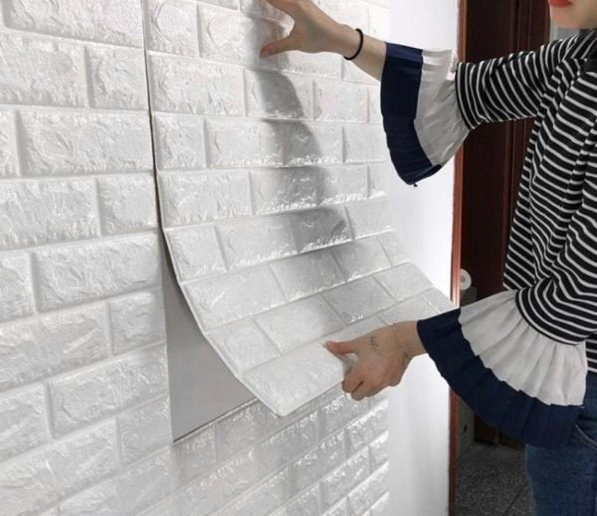 3D立體牆貼,設計裝飾廚房/浴室/客廳/臥室 (加厚納米款/白色)