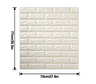 3D Brick Wall Stickers (white)