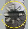 戶外多功能360度旋轉手戰術電筒套,(黑色)