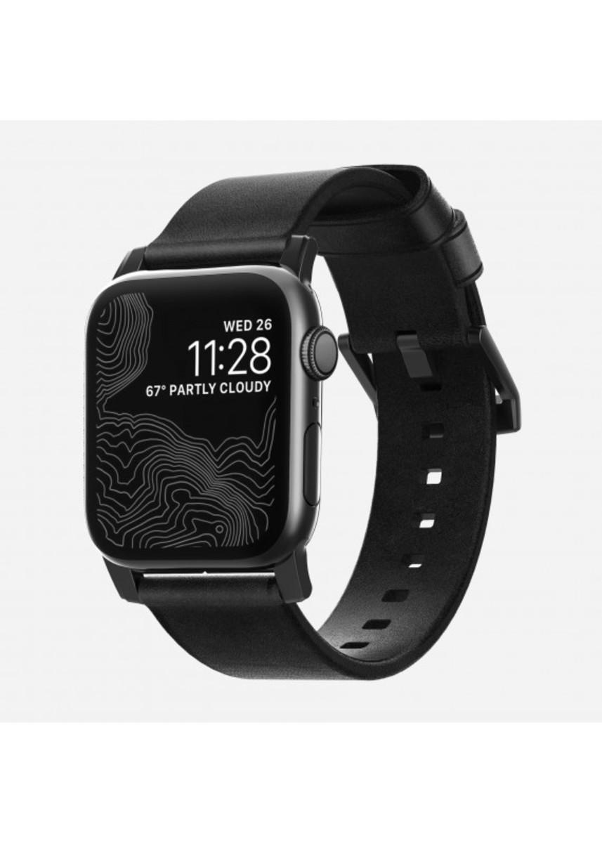NOMAD - Apple Watch (42/44mm) Modern Leather Strap - Black