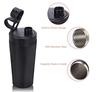 Bennlife Double Wall Vacuum Insulated Stainless Steel Sports Thermal Water Bottle18OZ (black)