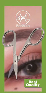 Bennlife 不銹鋼美容多功能剪刀, 眉毛/睫毛剪刀(一件)
