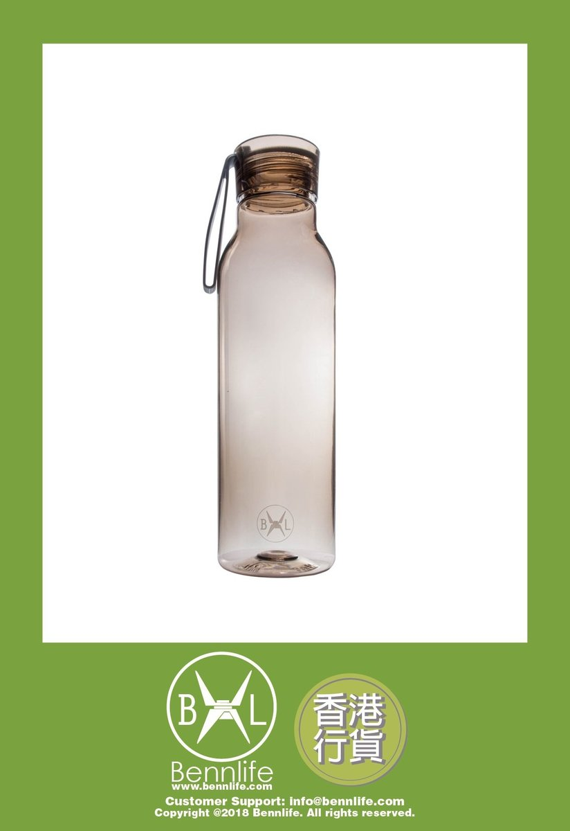 Bennlife 賓尼生活 塑膠運動水樽 (咖啡色)