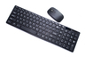 超薄時尚2.4G光學無線鍵盤及滑鼠(黑色)