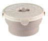 Silicone Food Storage Container, Collapsible Stackable Lunch Box Foldable Bowl with Lid.(660ML)