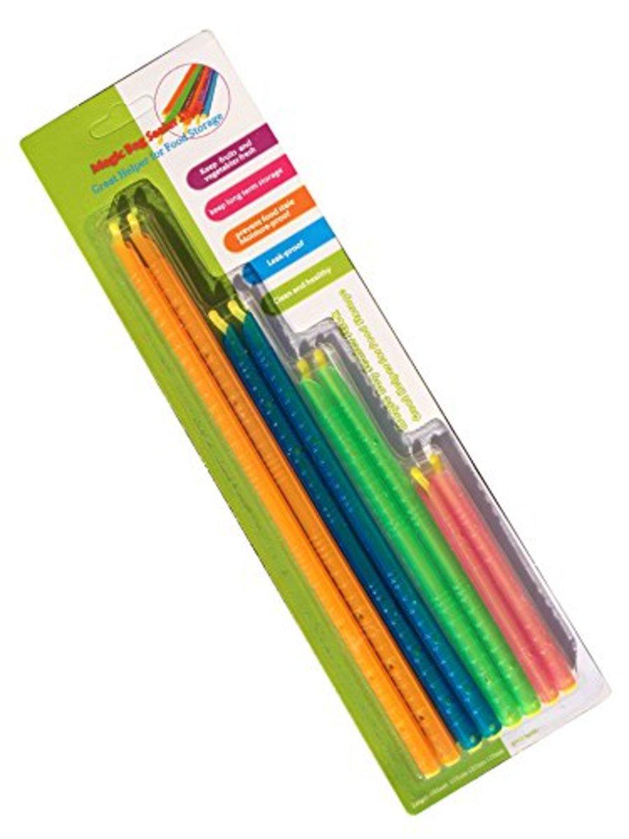 食品密封袋子夾,(一套8件,有4種顏色)