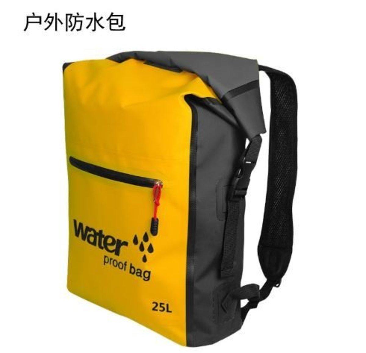 25L 戶外防水登山背包 (黃色)