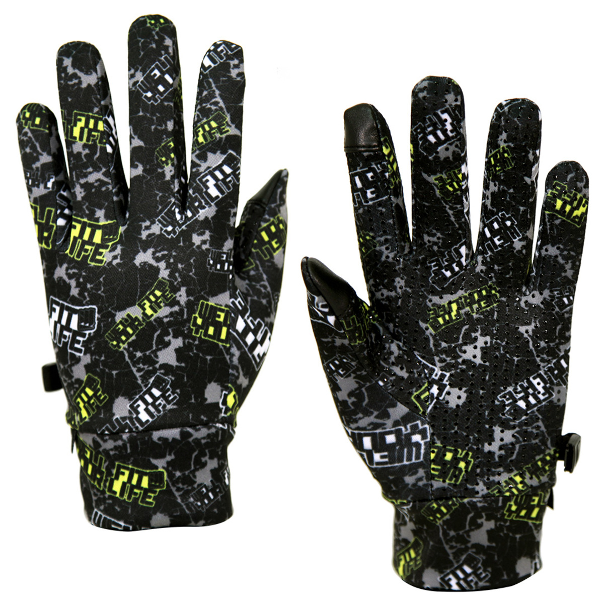 Well Fit Gloves- Black+Yellow