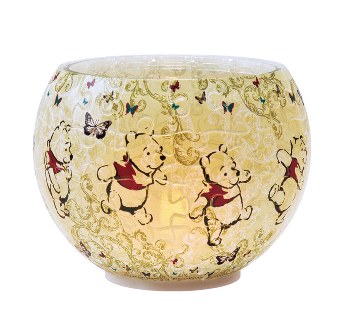 [日本正貨] Winnie The Pooh小熊維尼燈罩80片拼圖燈 (一)
