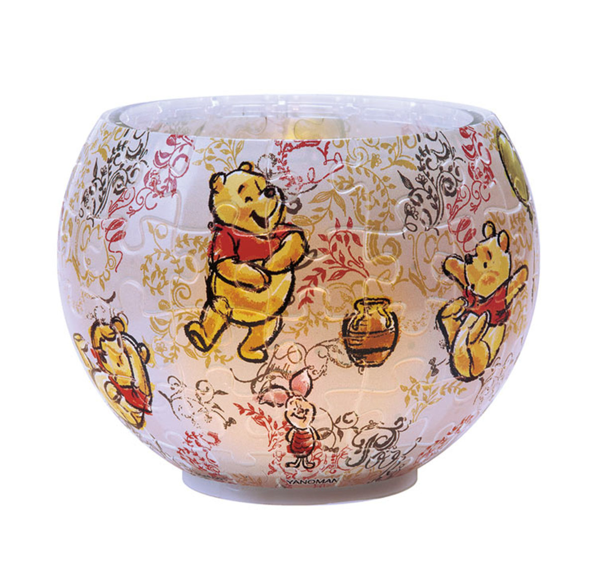 [日本正貨] Winnie The Pooh小熊維尼燈罩80片拼圖燈 (三)