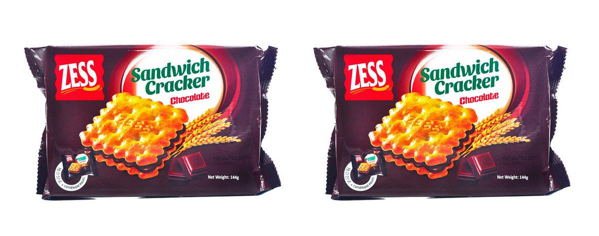 Zess Sandwich Cracker Chocolate Flv x 2