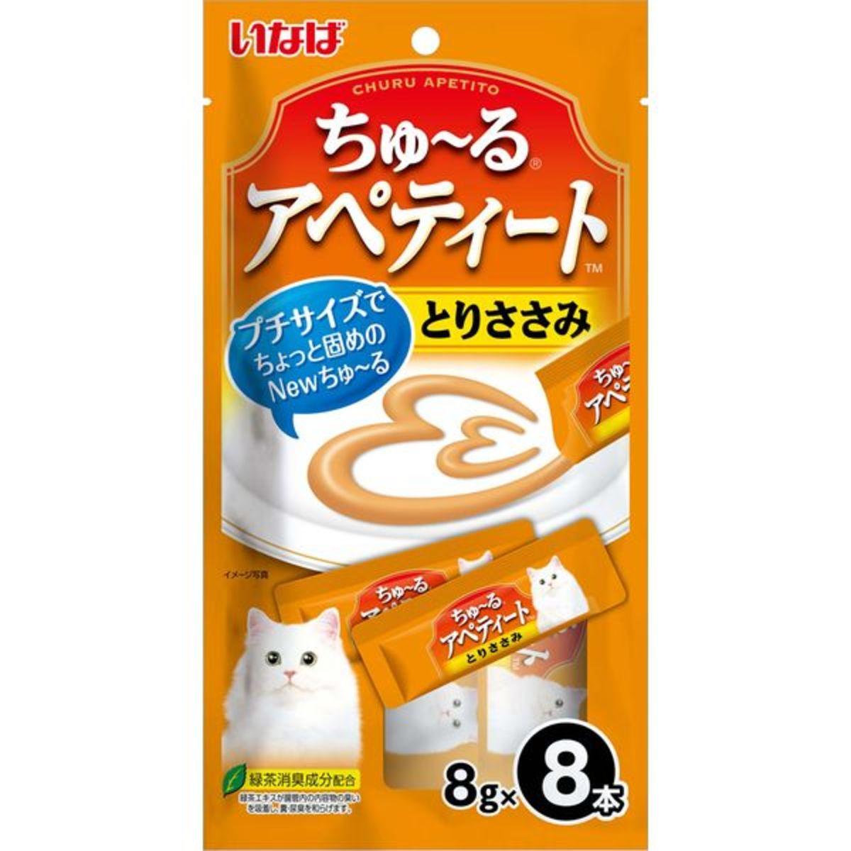 INABA 日本綠茶雞肉茸糊 8g x 8本 TSC-23 (89166) (日本平行進口)