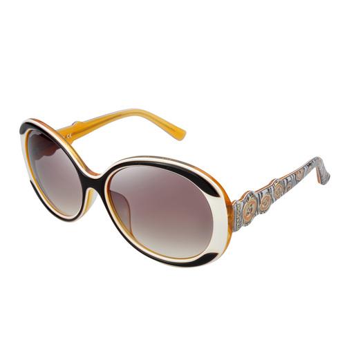 太陽眼鏡-斑馬與花-橙白色