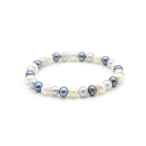 (Free Gift) 6-7mm Cultured fresh water pearl Bracelet